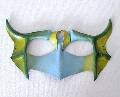 [Halloween Mask Blue and Green Owl Mask Leather Animal Mask] (Sloth From Goonies Halloween Costume)