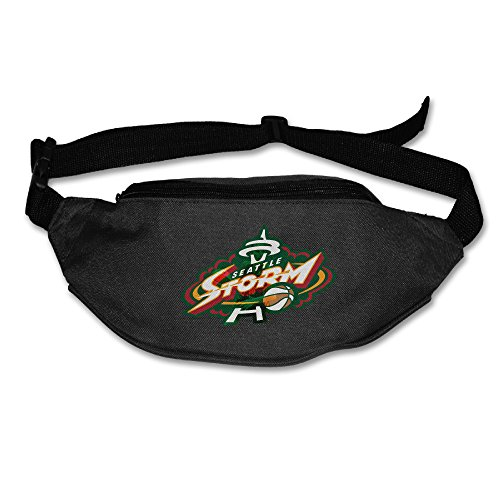 YUVIA Seattle Storm Men's&Women's Waist Pack Sports Pocket Black (Buss Mobile Phone compare prices)