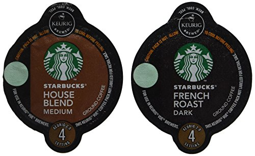 32 Count - Starbucks House Blend & French Roast Coffee Vue Cup For Keurig Vue Brewers (Vue Starbucks French Roast compare prices)
