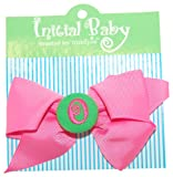 Mud Pie Initial Baby Personalized Hair Bow, Letter O