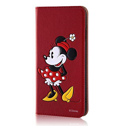 レイ・アウト iPhone7 ケース ディズニー 手帳型 レザーケース(ICカード /スタンド機能) ポップアップ スタンディング/ミニーマウス RT-DP12J/MN