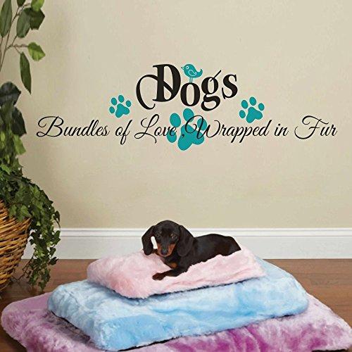 bundles-of-love-dogs-room-wall-decal-pet-wall-decor-xlargewordsblackpaw-and-birdteal