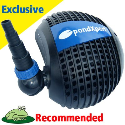Pondpush 8000 garden pond pump for pond filters waterfalls for Garden pond pump filters