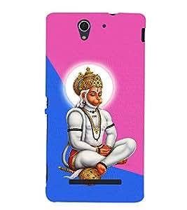 Monojavaya Hanuman 3D Hard Polycarbonate Designer Back Case Cover for Sony Xperia C3 Dual D2502 :: Sony Xperia C3 D2533