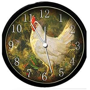 glow in the dark wall clock chicken home