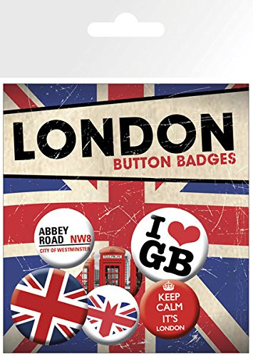 GB eye LTD, London, Keep Calm, Pack de Chapas