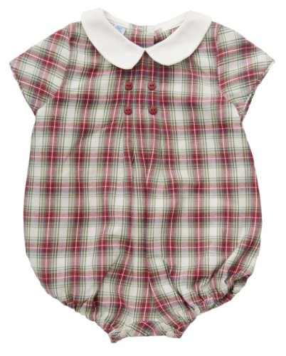 Luli & Me Baby-Boys' Check Bubble Red 3M