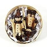 Wunderschner-weihnachtlicher-Baumbehang-aus-Holz-als-2er-Set-Winterfiguren-ca-5-cm