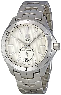 TAG Heuer Men's WAT2111.BA0950 Link Silver Dial Watch