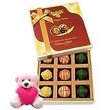 Combo Treat Of Yummy Chocolates With Teddy - Chocholik Luxury Chocolates
