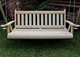 MISSION Amish Heavy Duty 700 Lb 4ft. Treated Porch Swing With Cupholders - Made in USA