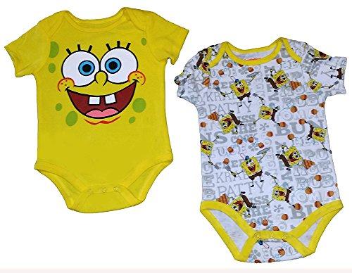 [Nickelodeon Spongebob 2pk Creeper] (Spongebob Outfit)