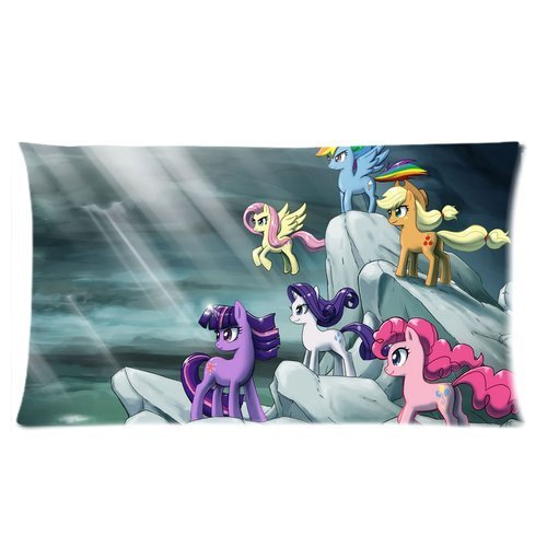 """Generic Custom Kids Favorite Cartoon My Little Pony Cool Design Printed Soft And Silky Decorative Zippered Pillowcase Cushion Case 20""""*30""""(Two Sides) front-1044307"""