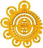 Aristo AR5020 Abrundungsschablone  transparent gelb