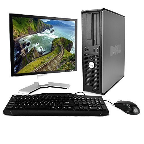 Dell OptiPlex Desktop, Core2Duo 2.0GHz, 4GB, 80GB, DVD, Genuine Windows 7 Professional 32-Bit, 17″ Monitor (brands vary), Keyboard, Mouse