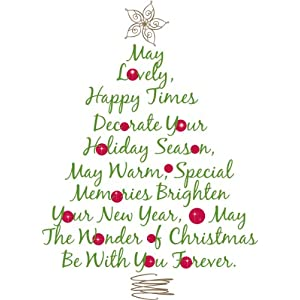 #!Cheap RoomMates RMK1412GM Christmas Tree Quote Peel & Stick Giant Wall Decal