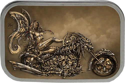 Tattoo Johnny Dark Angel Of Death Chopper Tattoo Belt Buckle. Price: $14.95