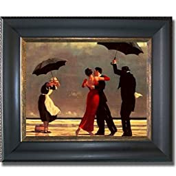 Singing Butler by Jack Vettriano Premium Black & Gold Framed Canvas (Ready-to-Hang)