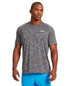Under Armour Herren Shirt Ua Tech Novelty Short Sleeve, Blk/Wht, L, 1236401-006