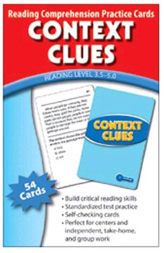 Context Clues Practice Cards Green Level