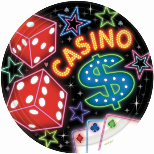 Casino Dinner Plates 8ct - 1