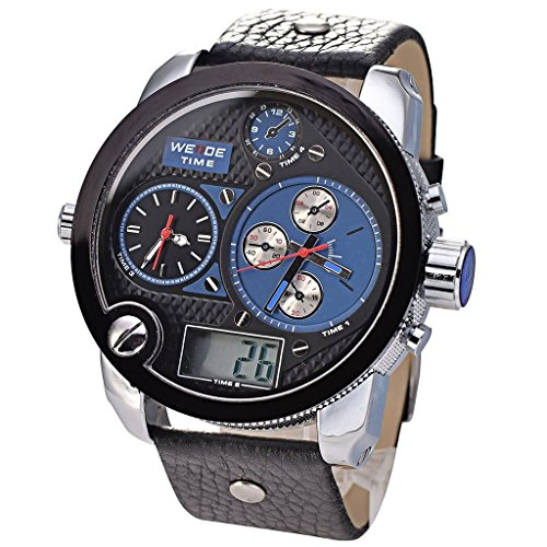 tcella-mens-quartz-stainless-steel-black-leather-band-sport-blue-dial-wrist-watch