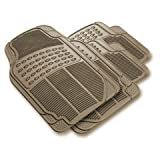 51IAf2Jua6L. SL160  Front &amp; Rear Car Truck SUV Premium Rubber Floor Mats   Beige Tan