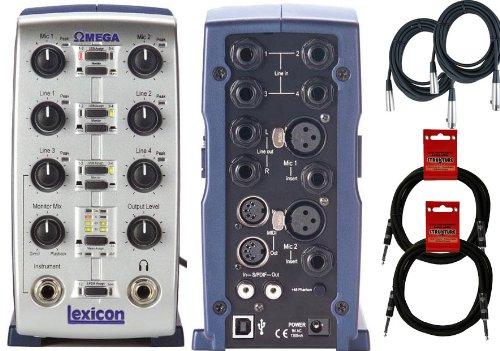 Lexicon Omega Desktop Recording Studio + Cubase Software W/2 Free 10' Cables 2 20' Xlr Mic Cables