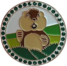 Caddyshack Golf Ball Marker amp Hat Clip - Dancing Gopher with Crystals