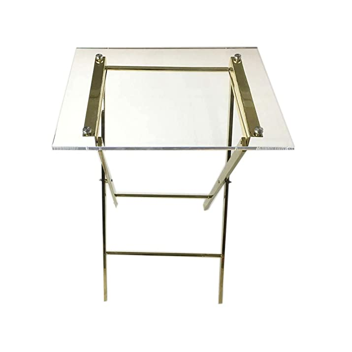 Tavolo pieghevole tavolino in acrilico trasparente–ideale per casa, ufficio o hotel