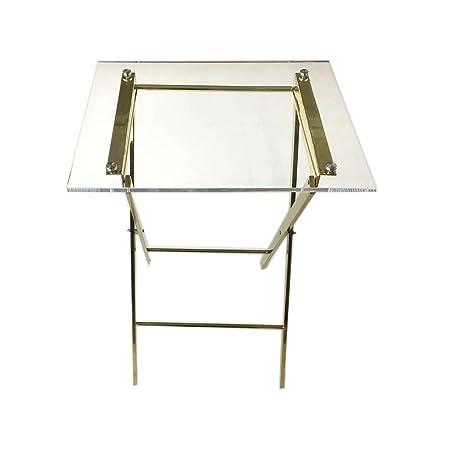 Table pliante table basse en acrylique transparent-idéal pour la maison, bureau ou hôtel