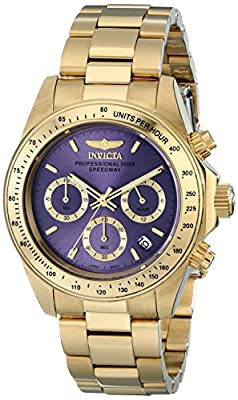Invicta Women's 18257 Speedway 18k Gold Ion-Plated Watch with Link Bracelet