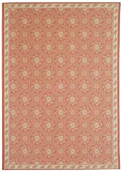 "3'9"" x 5'11"" Rectangular Safavieh Area Rug MSR1125D-4 Cherry/Blossom Color Machine Made Belgium ""Martha Stewart Collection"" Pinwheel Design"