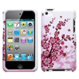Snap-On Protector Hard Case for iPod Touch 4th Generation / 4th Gen - Spring Flower Design Pink