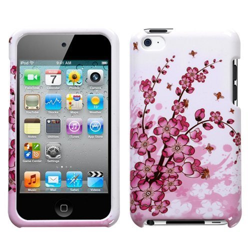 Snap-On Protector Hard Case for iPod Touch 4th Generation / 4th Gen - Spring Flower Design tvs tm snap on protector hybrid hard gel case for apple ipod touch 4th generation 4th gen