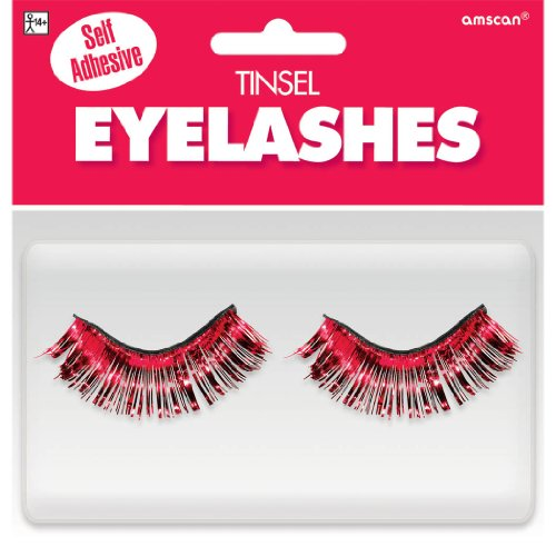 Red Fake Eyelashes - 1