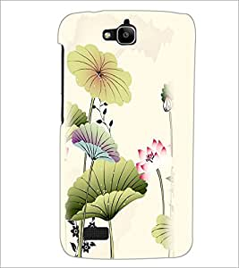 PrintDhaba Floral Design D-2026 Back Case Cover for HUAWEI HONOR HOLLY (Multi-Coloured)