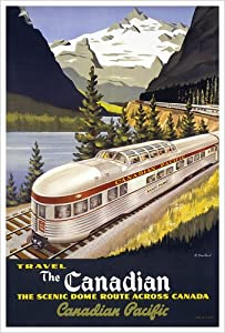 Canadian Pacific, The Scenic Dome Route, 1955 Vintage Art Poster Print