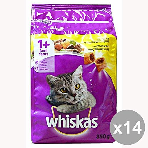 set-14-whiskas-350-gr-secco-pollo-fagottini-riparazione-ieni-cibo-per-gatti