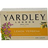 Yardley Lemon Verbena with Shea Butter Bar Soap, 4.25 Ounce