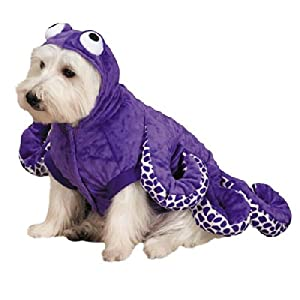 Zack & Zoey Octo-Hound Dog Costume, Large, Purple Octopus