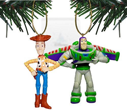 "Disney & Pixar's ""Toy Story"" Woody & Buzz Lightyear Holiday Ornament Set – 2 PVC Ornaments Included – Limited Availability"
