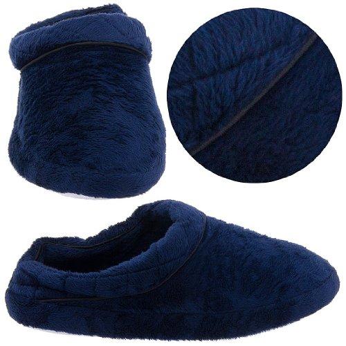 Cheap Navy Clog Style Slippers for Women (B0041TXSTQ)