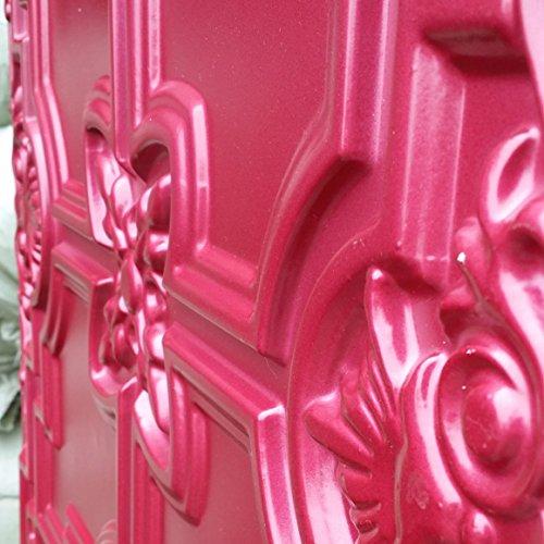 PL16 finition gloss faux dalles de plafond en relief Bordeaux couleur fond photosgraphie Panneaux muraux 10pieces/Decoration lot