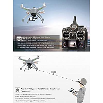 Walkera QR X350 PRO GPS RC Quadcopter Drone FPV Devo F7 G-2D Gimbal Camera *USA!