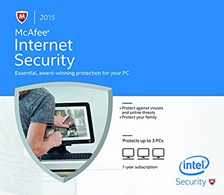 McAfee Internet Security 2015 - 3 PC (PC) [Frustration-Free Packaging]