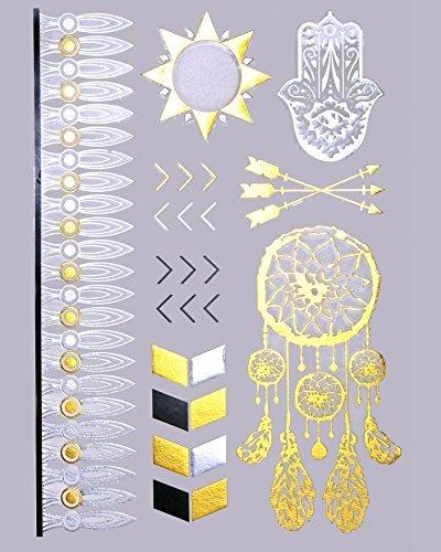 Tatouage Temporaire, Métallique Éclair Bracelet MX806