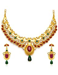 Sukkhi Luxurious Gold Plated AD Necklace Set
