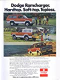Dodge Ramcharger hardtop soft-top topless ad 1975