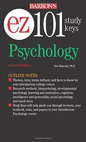 Psychology: EZ-101 (Barron's Ez-101 Study Keys (Pa)